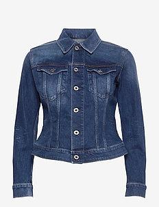 3301 Slim Jacket - jeansjackor - faded stone