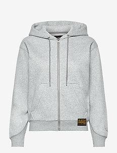 Premium core hdd zip thru sw wmn l- - hoodies - grey htr