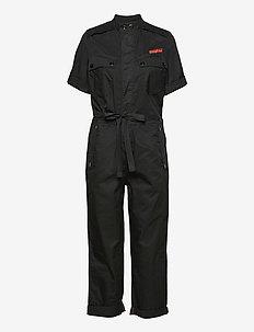 Field straight jumpsuit wmn s\s - jumpsuits - dk black