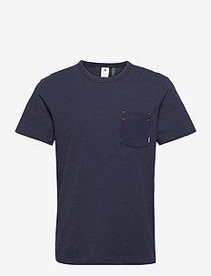 Contrast mercerized pkt r t s\s - t-shirts - sartho blue