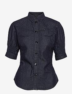 Smock western kick back shirt wmn s - overhemden met korte mouwen - rinsed