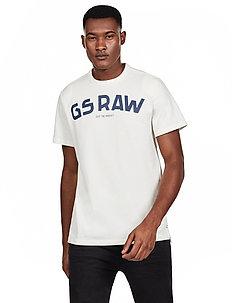 Gsraw gr r t s\s - logo t-shirts - milk