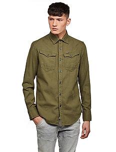 Arc 3d slim shirt l\s - basic shirts - sage