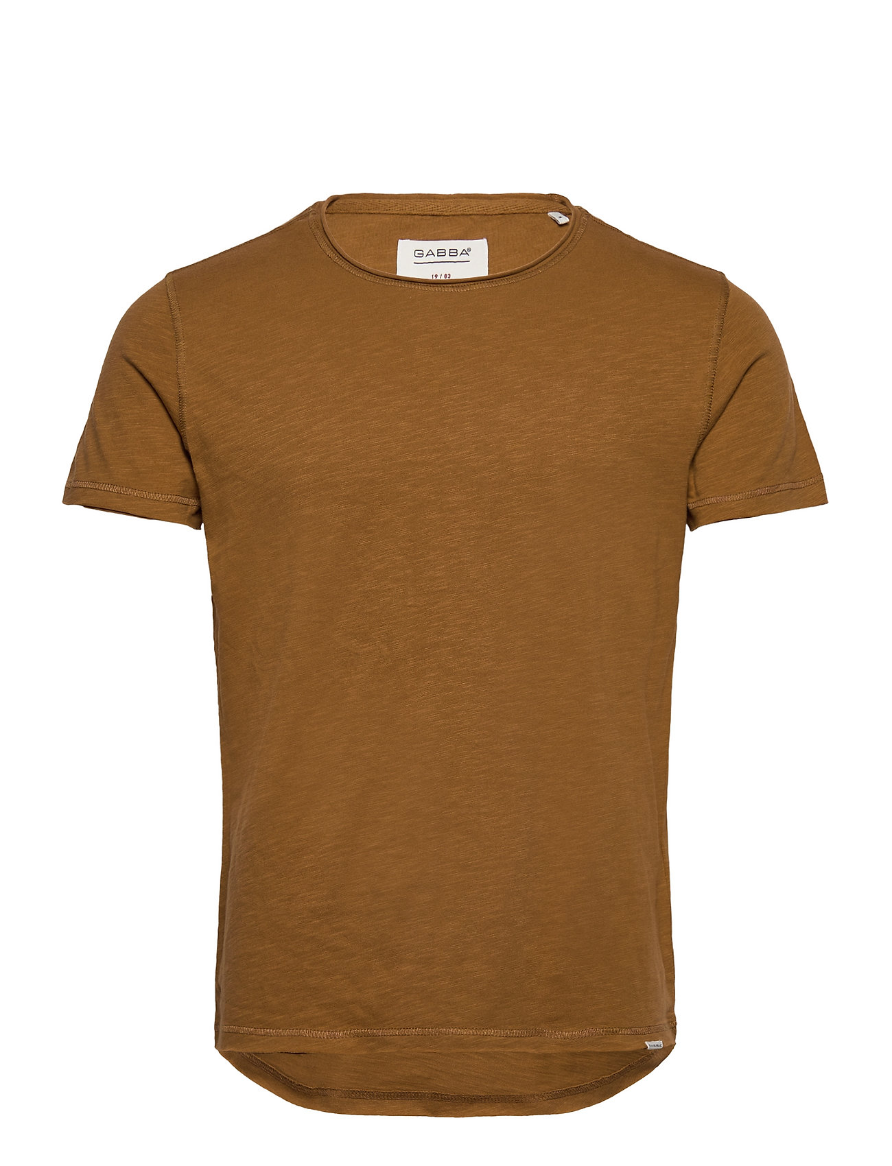 Image of Konrad Slub S/S Tee T-shirt Brun Gabba (3551194899)