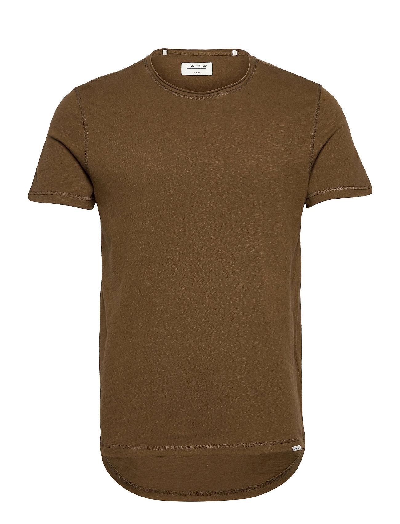 Image of Konrad Slub S/S Tee T-shirt Brun Gabba (3550634151)
