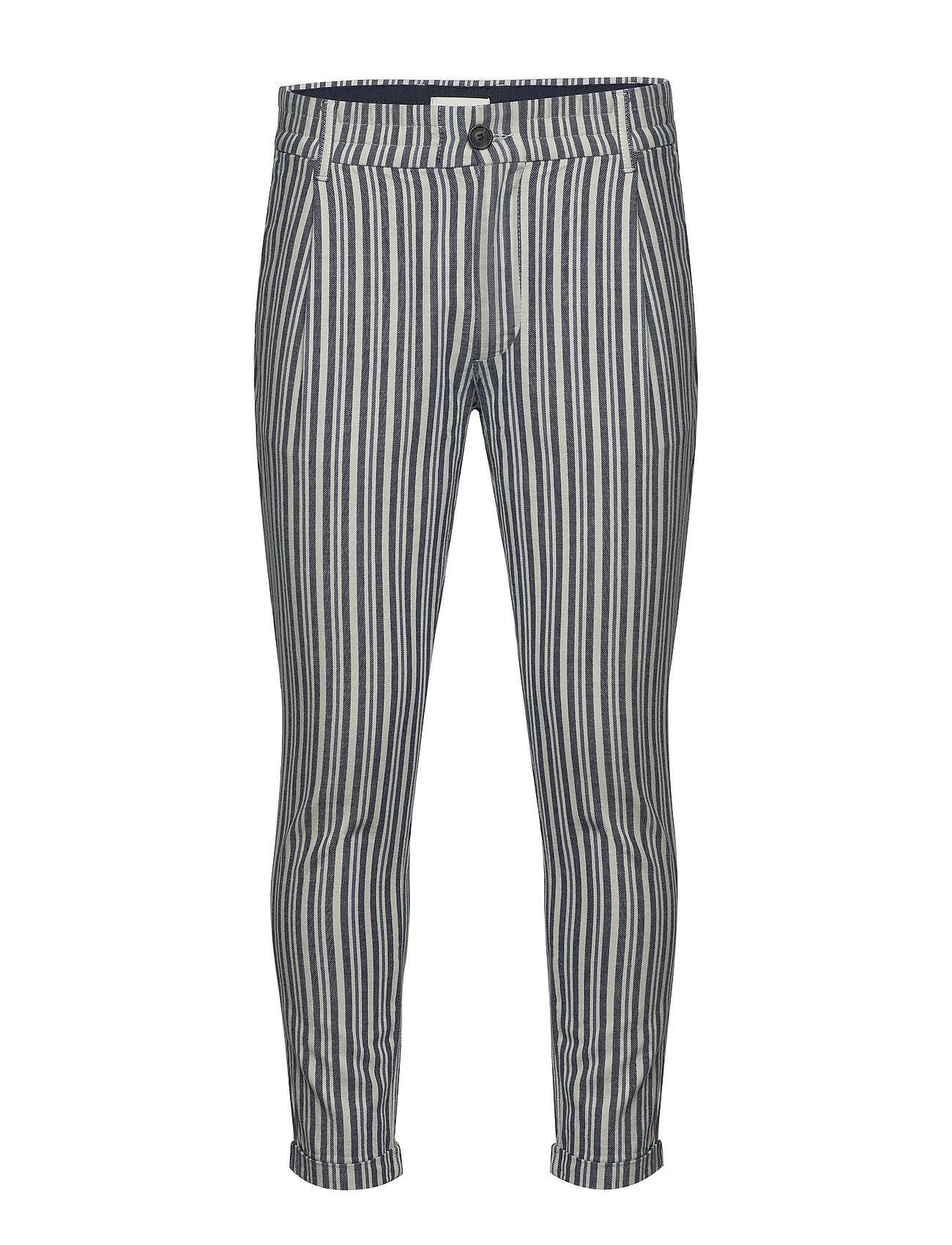 Image of Bryce Dy Stripe Pants Casual Bukser Blå Gabba (3505008687)