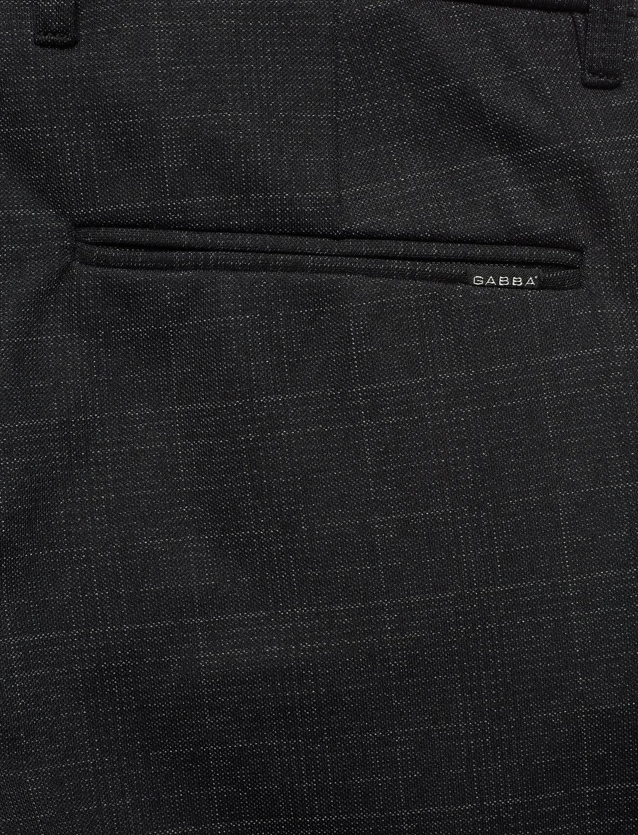 Gabba Pisa KD3920 Black Shadow Check Pant - Bukser BLACK CHECK - Menn Klær