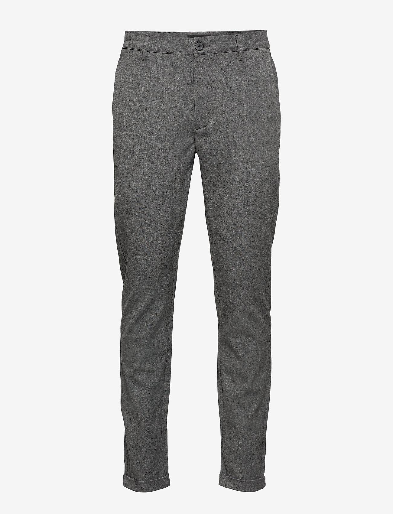 Gabba - Rome Pants KD3962 - suitbukser - grey mel - 0