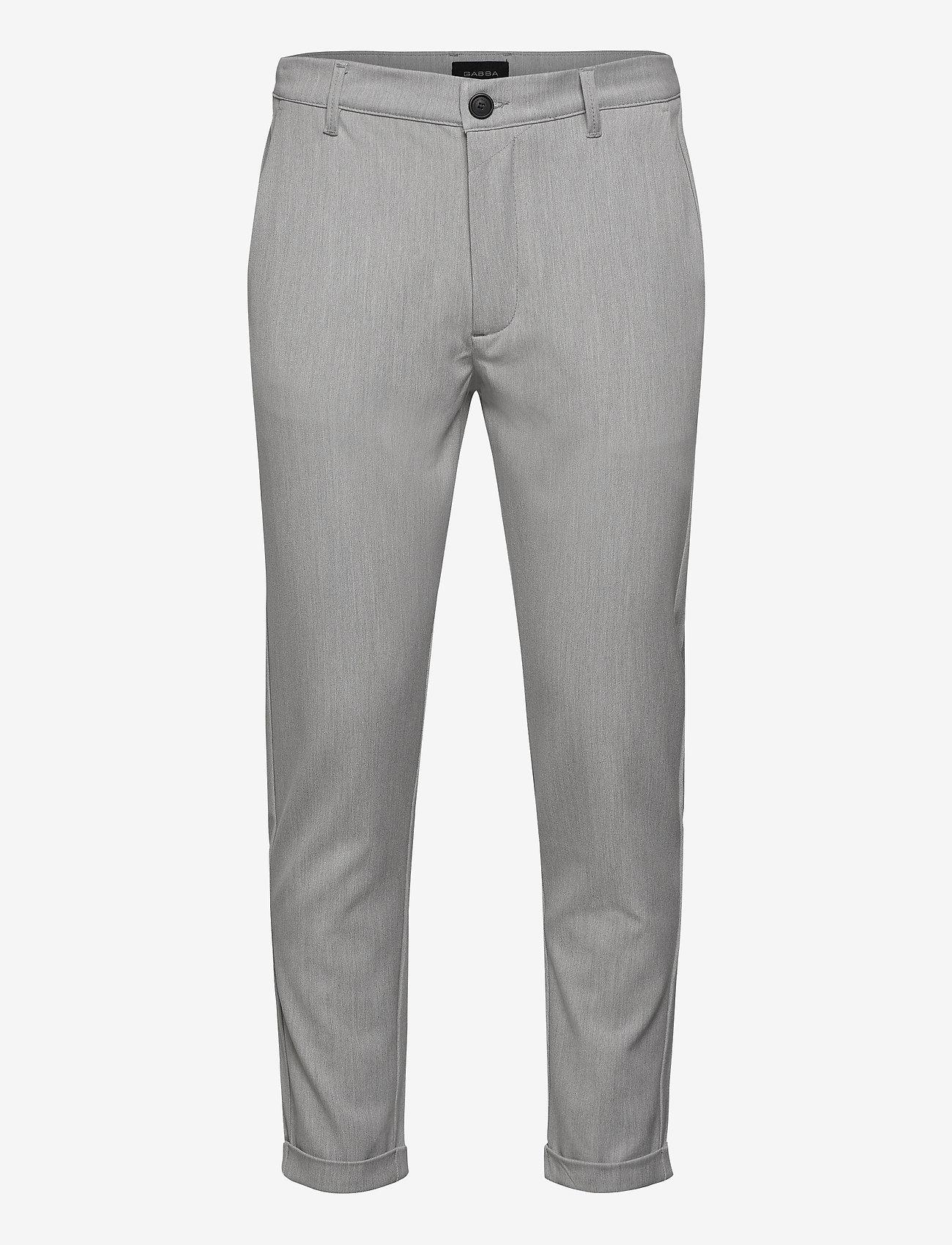 Gabba - Rome Pants KD3950 - suitbukser - lt. grey - 0