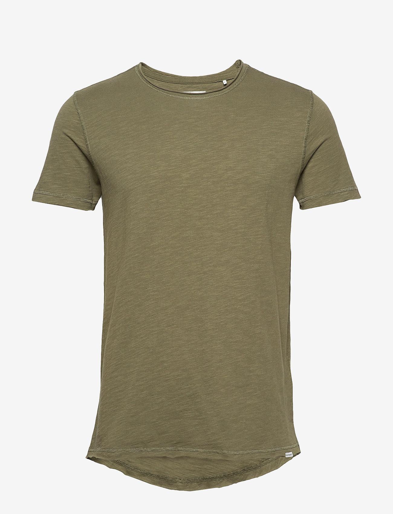 Gabba - Konrad Slub S/S Tee - basic t-shirts - army - 0