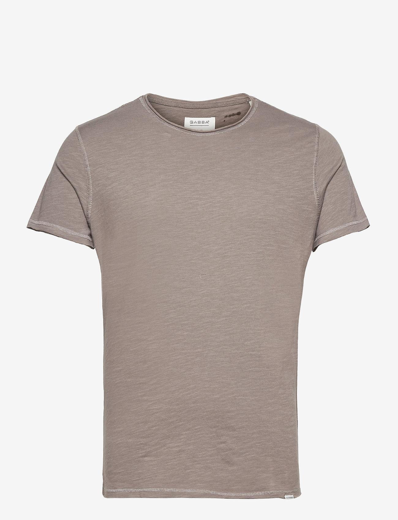 Gabba - Konrad Slub S/S Tee - basic t-shirts - grey - 0