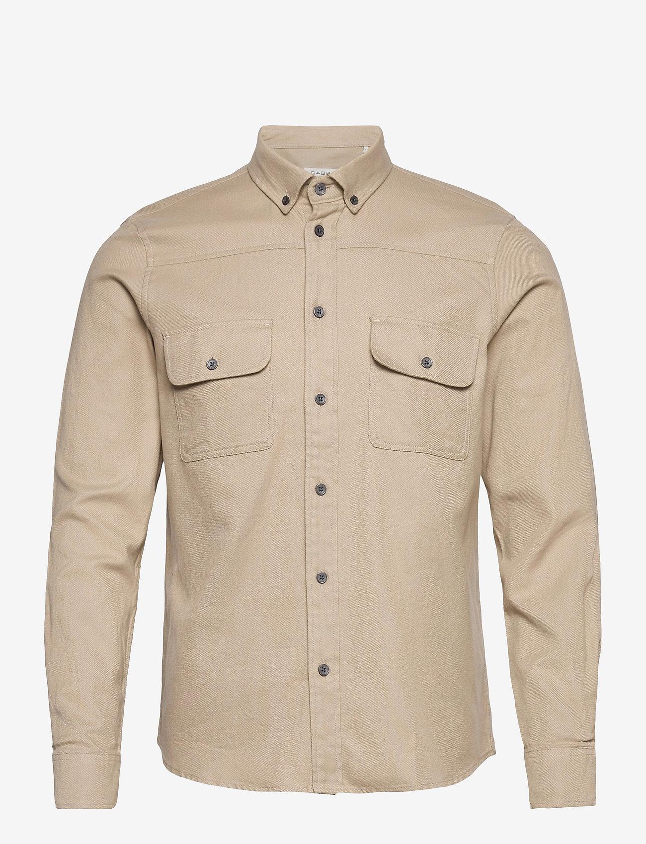 Gabba - Harbin LS Shirt - basic skjorter - humus - 0