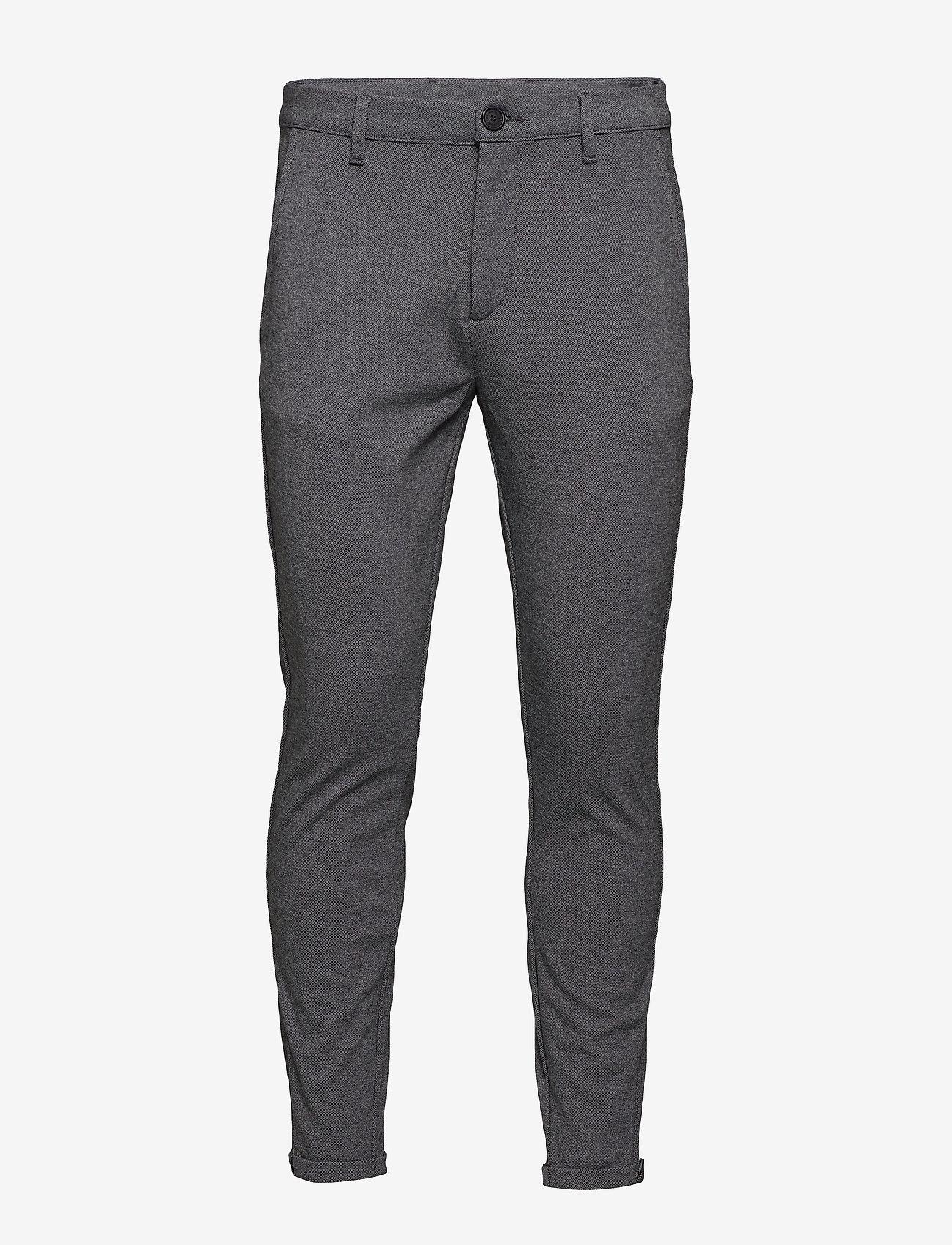 Gabba - Pisa Jersey Pant - chinos - lt grey mel - 0