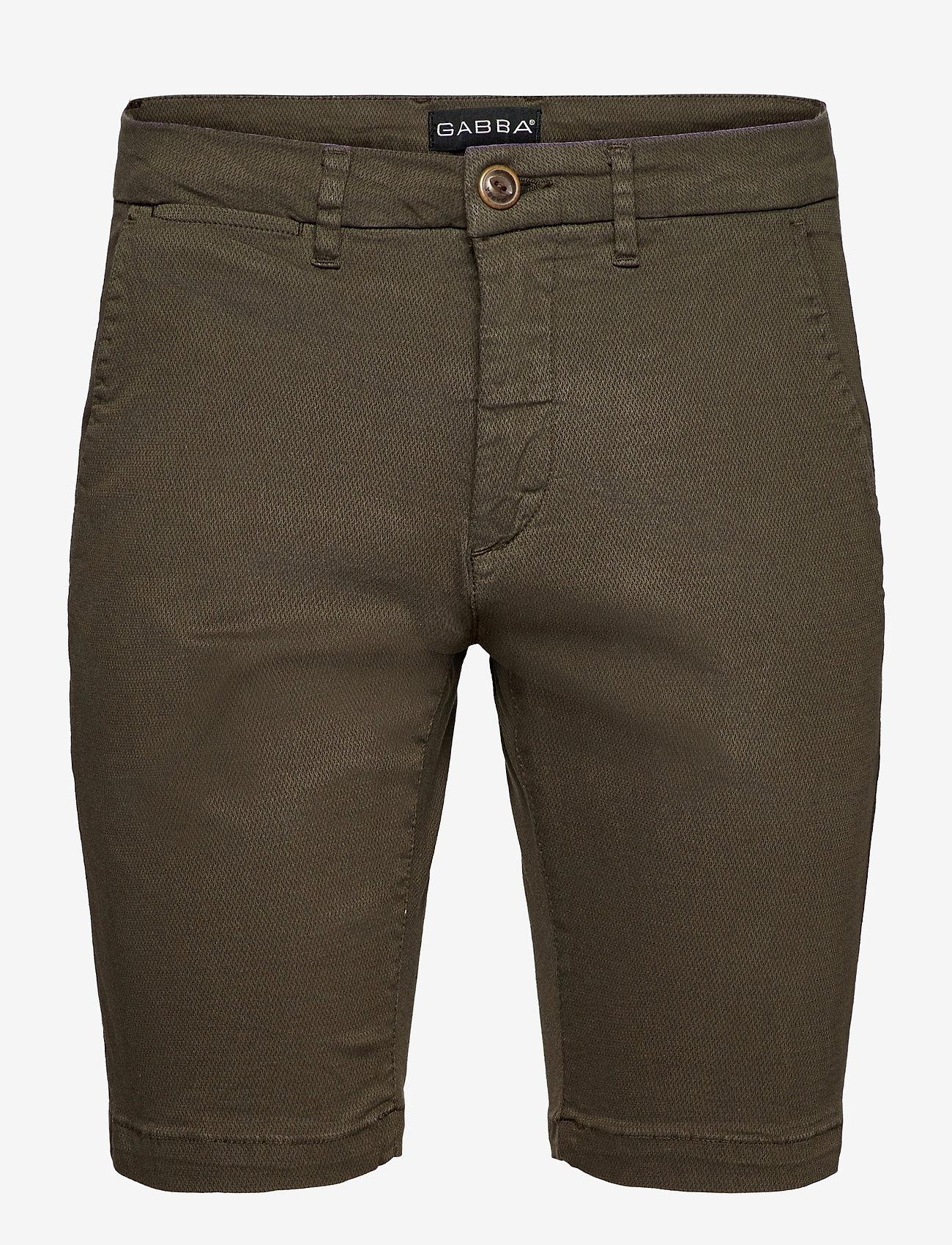 Gabba - Jason K3280 Dale Shorts - chinos shorts - army - 0
