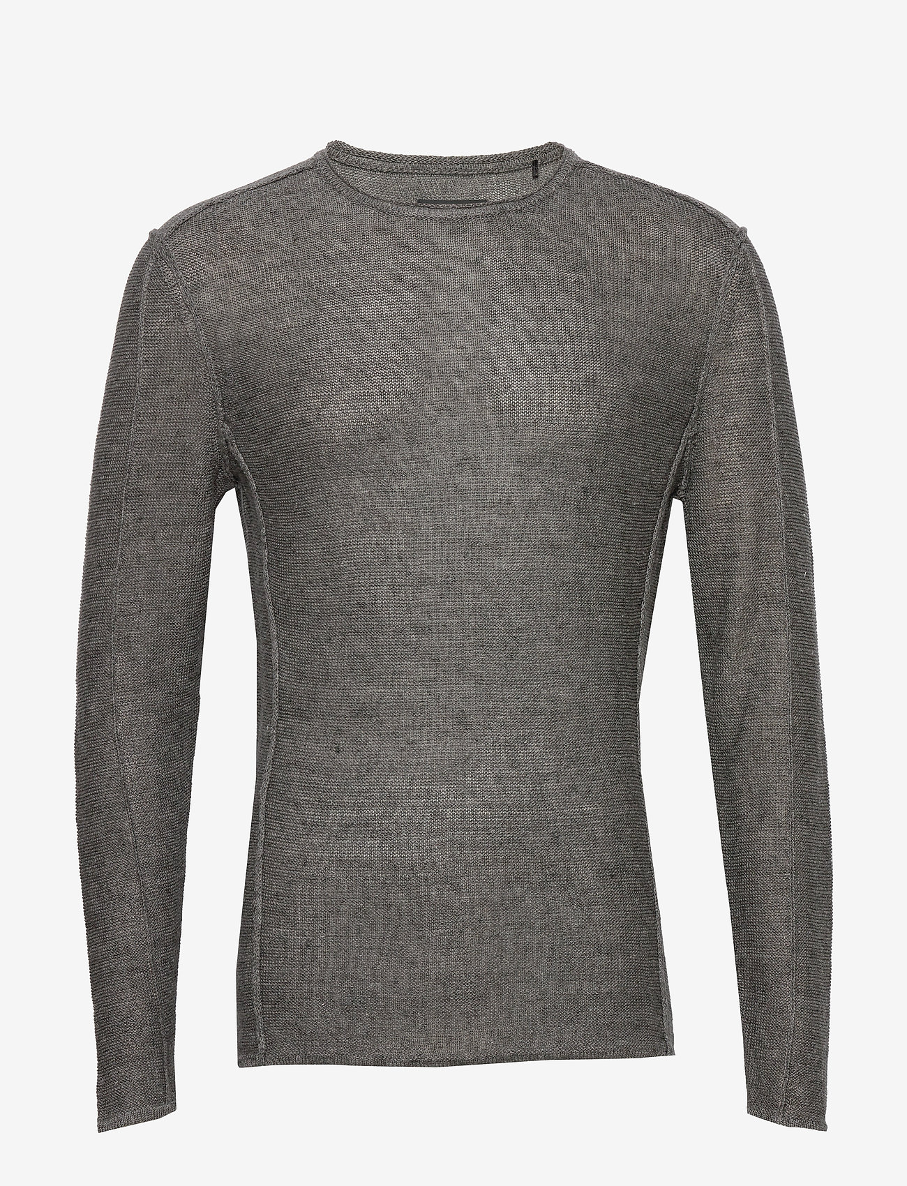 Gabba - Liam Linen Knit - basic strik - dk. grey mel - 0