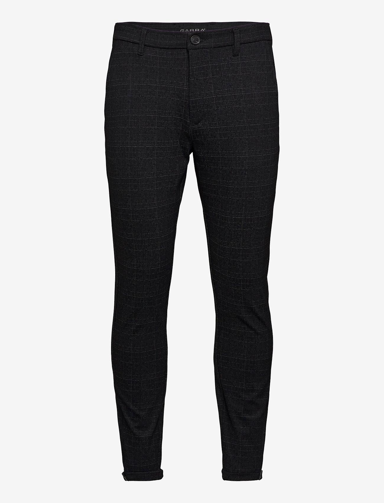 Gabba - Pisa KD3920 Black Shadow Check Pant - chinos - black check - 0