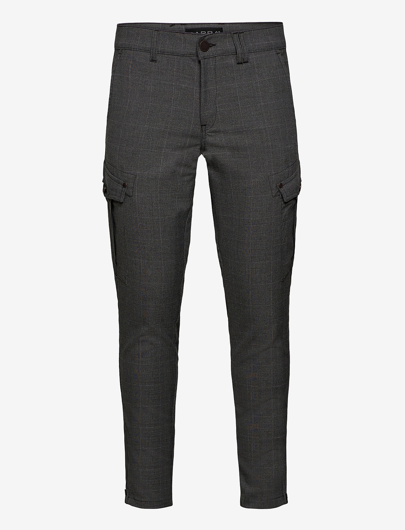 Gabba - Pisa Cargo Grey Check Pant - cargobukser - grey check - 0