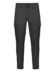Pisa Cargo Grey Check Pant - GREY CHECK