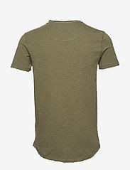 Gabba - Konrad Slub S/S Tee - basic t-shirts - army - 1