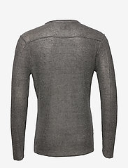 Gabba - Liam Linen Knit - basic strik - dk. grey mel - 1