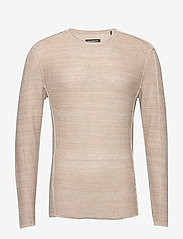Gabba - Liam Linen Knit - basic strik - lt. sand - 0