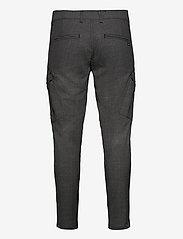 Gabba - Pisa Cargo Grey Check Pant - cargobukser - grey check - 1