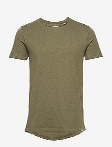 Konrad Slub S/S Tee - basic t-shirts - army