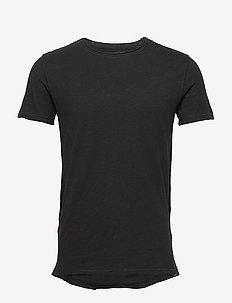 Konrad Slub S/S Tee - basic t-shirts - black