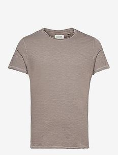 Konrad Slub S/S Tee - basic t-shirts - grey