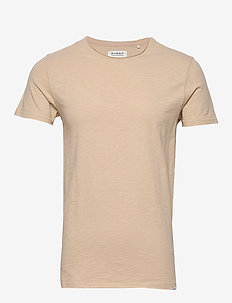Konrad Slub S/S Tee - basic t-shirts - humus