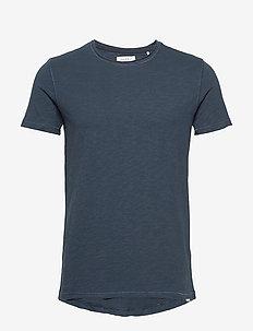 Konrad Slub S/S Tee - basic t-shirts - navy