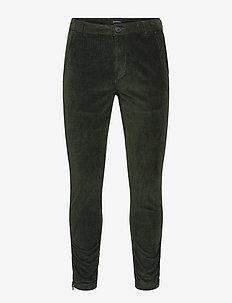 Pisa Cord Pants - chinos - dk. green