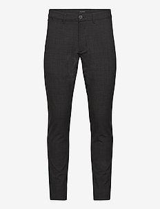 Paul Chino Cross Pants - suitbukser - dk. grey