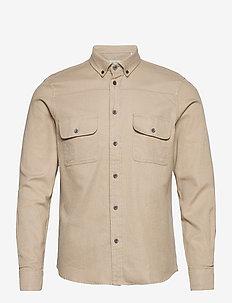 Harbin LS Shirt - basic skjorter - humus