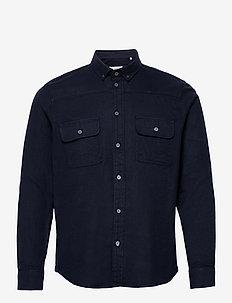 Harbin LS Shirt - basic skjorter - navy