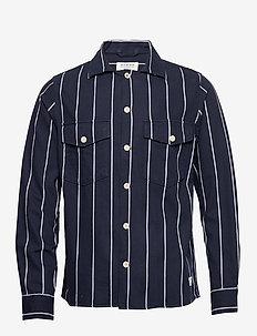 Clipper Big Shirt - casual - navy stripe