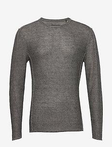 Liam Linen Knit - basic strik - dk. grey mel
