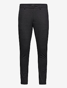 Pisa KD3920 Lines Pant - casual - black stripe