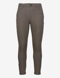 Pisa Class Check Pant - formele broeken - brown check
