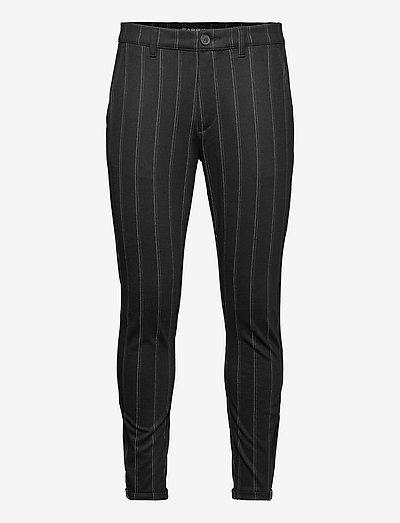 Pisa KD3920 Stripe Pant - suitbukser - black stripe