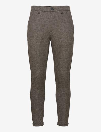 Pisa Class Check Pant - suitbukser - brown check