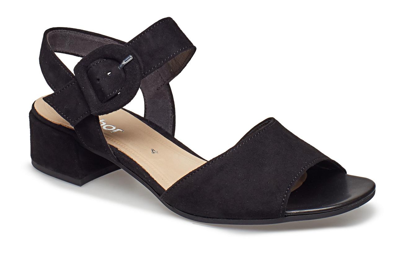 Gabor Sling Sandals - BLACK