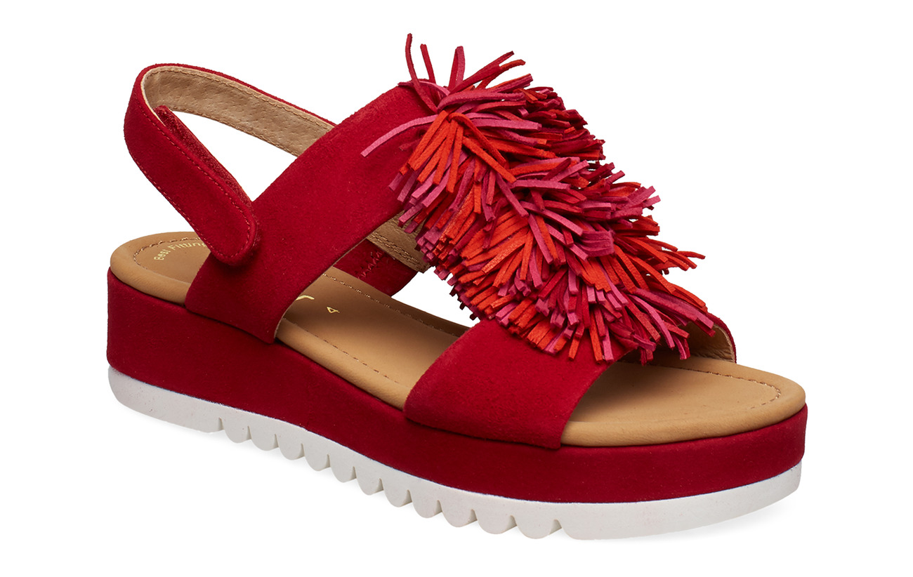 Gabor Sling Sandals - RED