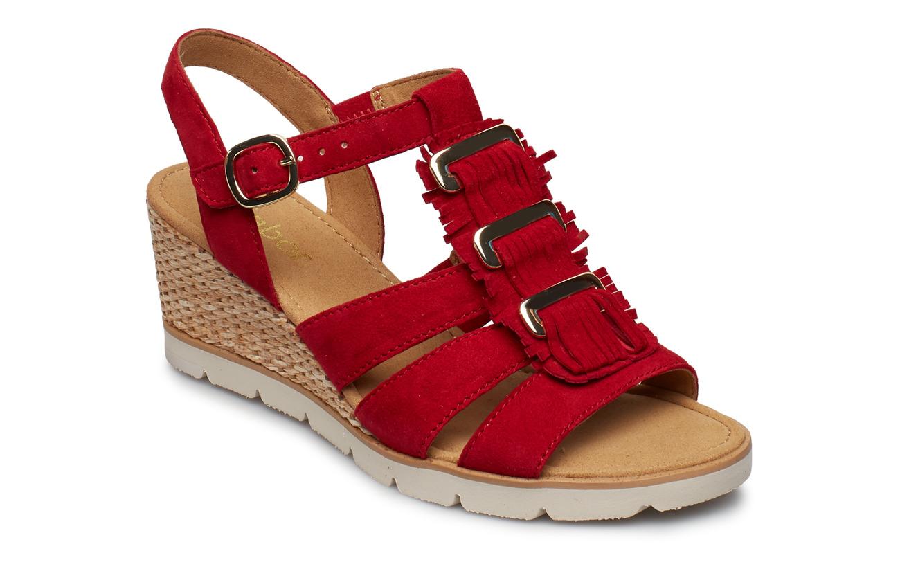 Gabor Sling Sandals - RED