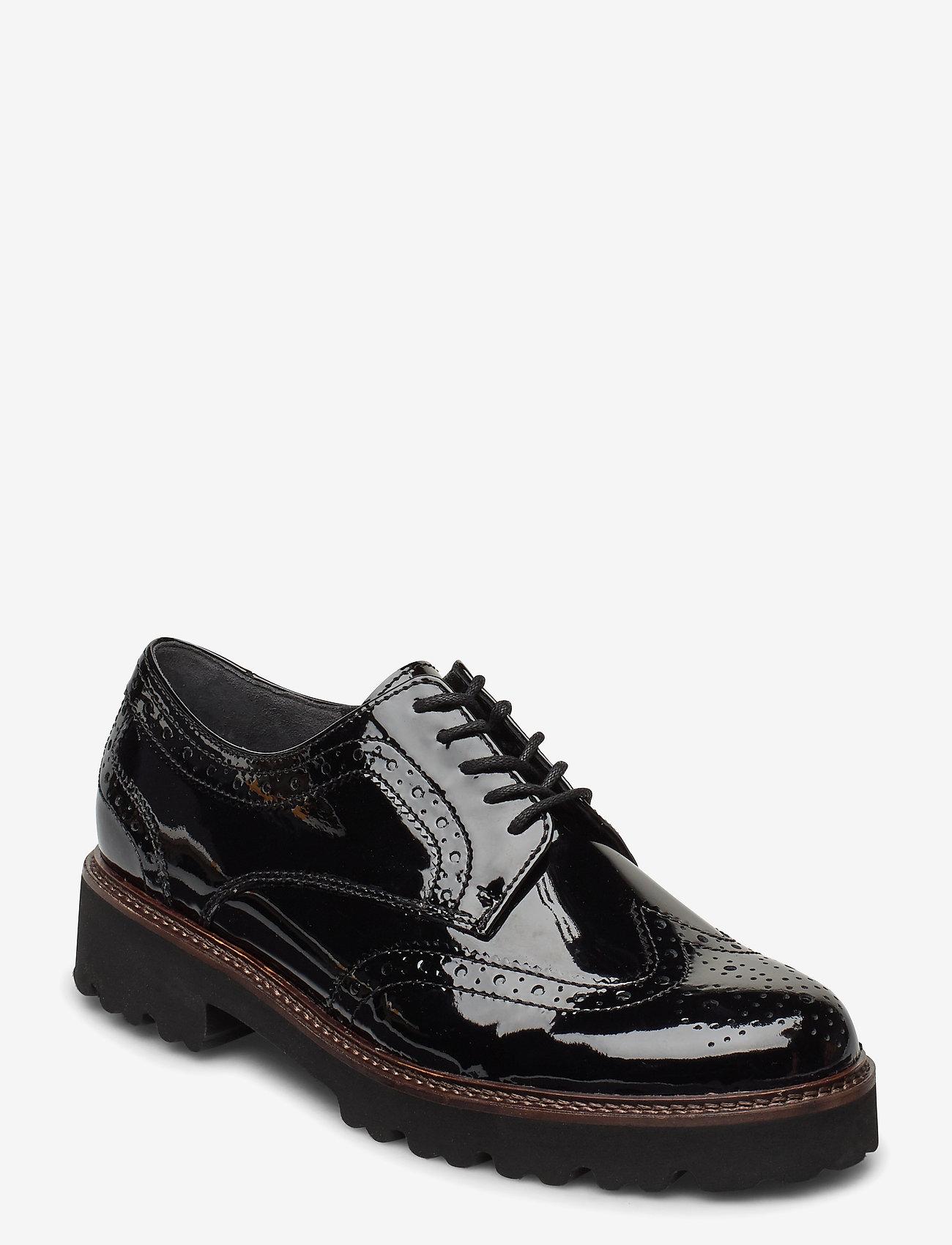 Gabor - Slip-ons - buty sznurowane - black - 0