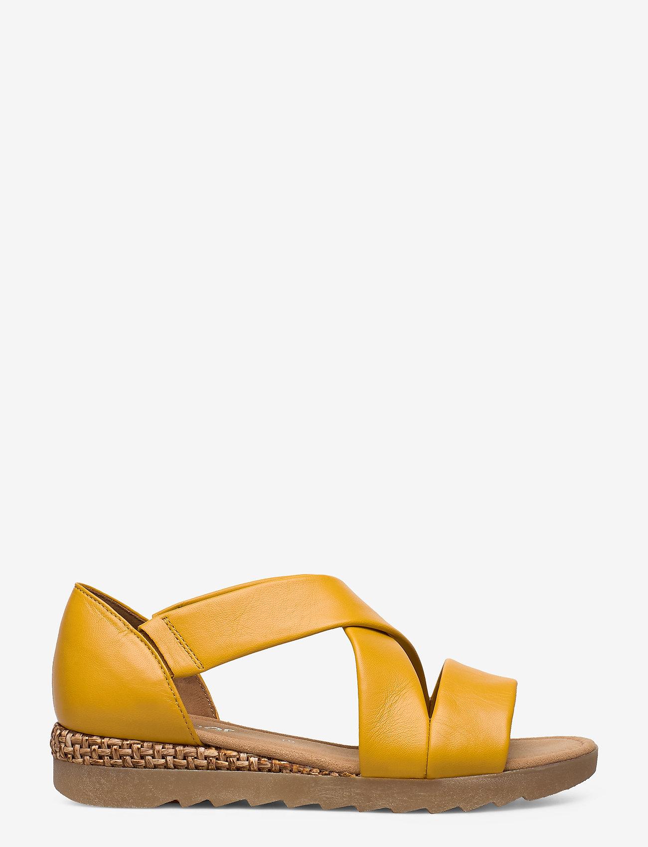 Gabor - sandals - høyhælte sandaler - yellow