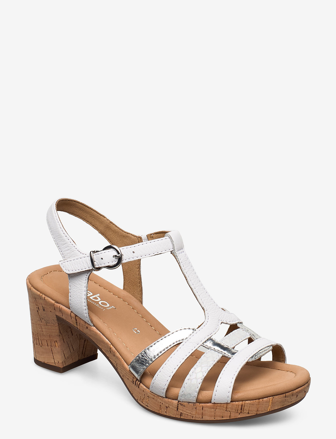 Gabor - sandals - høyhælte sandaler - white