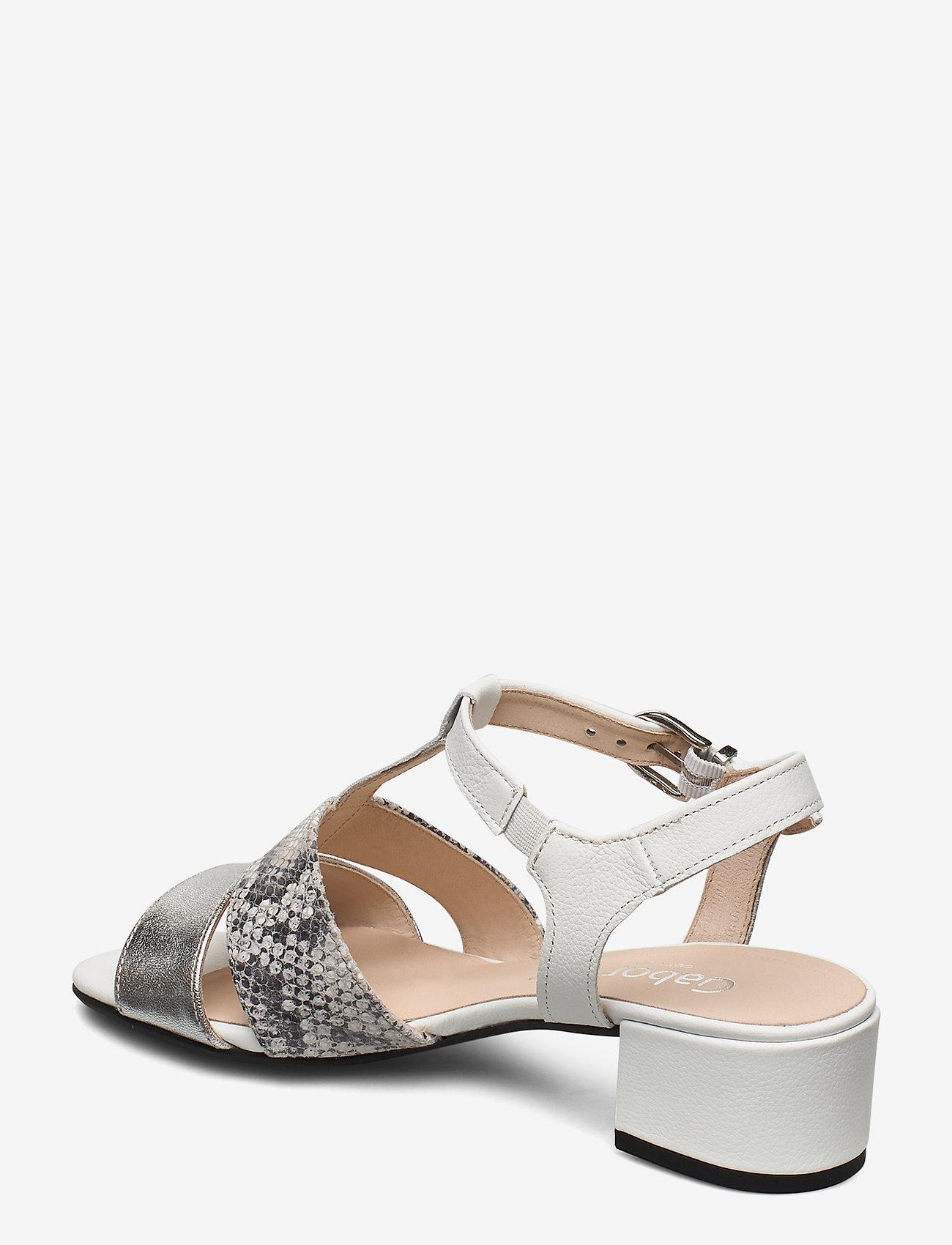 Gabor sandals - Absatzschuhe WHITE - Schuhe Billige