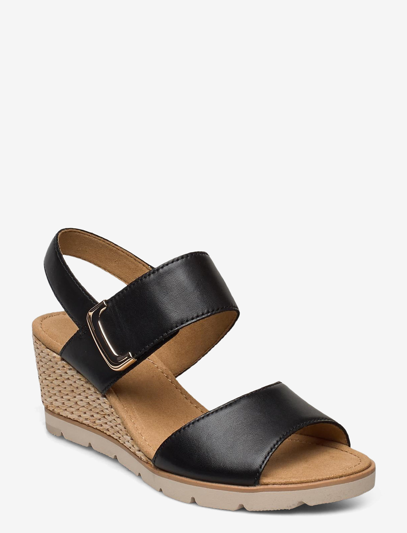 Gabor - sandals - espadrilles met sleehak - black - 0