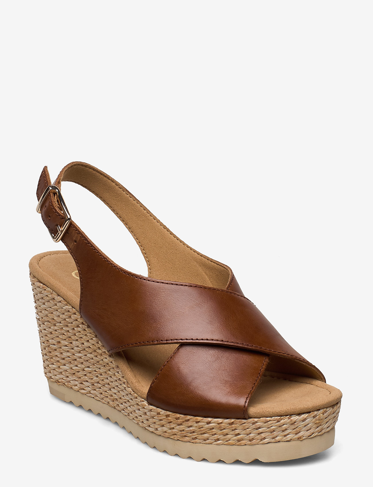 Gabor - sandals - espadrilles met sleehak - brown - 0